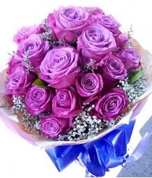 2 Dozen Lavander Ecuadorian Roses