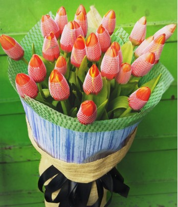 2 Dozen Orange Tulips