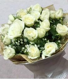 2 Dozen of White Roses