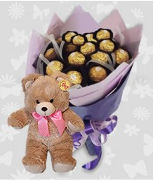Ferrero Bouquet with Bear