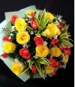 1 Dozen Imported Yellow Roses and 1 Dozen Local Peach Roses
