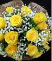 18 Imported Yellow Roses